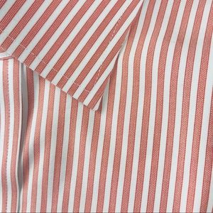 Brooks Brothers 16.5-35 red striped button front